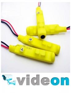 Активный  CCTV микрофон для видеонаблюдения  DVR с АРУ для спайки на проводах с тонкой настройкой