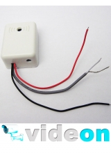 CCTV микрофон в коробе с АРУ для спайки на проводах