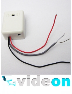 Активный  CCTV микрофон в коробе для видеонаблюдения с АРУ для спайки на проводах  оптом