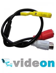 CCTV микрофон на микросхеме с АРУ на разьемах с настройкой опт