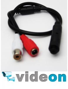 Активный CCTV микрофон для  камеры DVR видеонаблюдения  на разьемах для уличного использования.