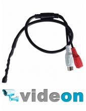 Активный CCTV микрофон для DVR видеонаблюдения недорого